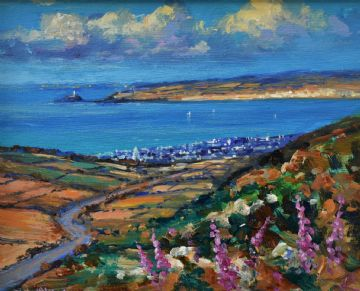 Richard Blowey Original Oil Painting Cornish Coast Cornwall
